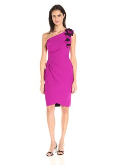 Alex Evenings Women's Slimming One-Shoulder Cocktail Dress