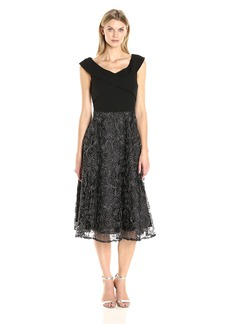 Alex Evenings Women's Party Dress with Ribbon Skirt