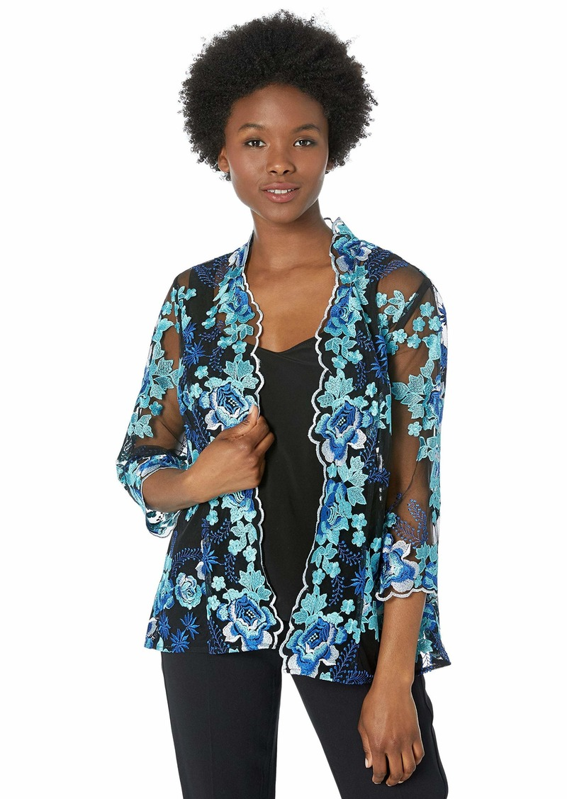 Alex Evenings Women's Jacket and Scoop Tank Top Twinset (Petite and Regular Sizes)  S