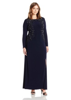 Alex Evenings Women's Plus Size Embroidered Evening Dress  14W