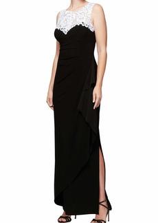 Alex Evenings Women's Plus Size Embroidered Long Dress  20W