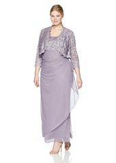 Alex Evenings Women's Plus Size Long Bolero Dress