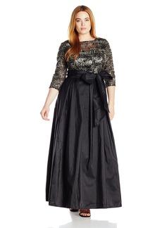 Alex Evenings Women's Plus Size Line Ballgown Evening Dress