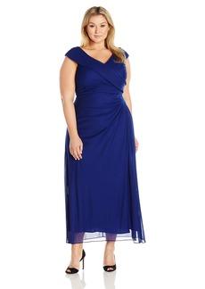Alex Evenings Women's Plus Size Portrait Collar Dress