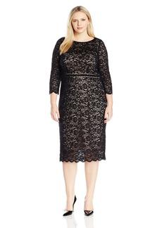 Alex Evenings Women's Plus Size Sheath Lace Cocktail Dress  W