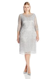 Alex Evenings Women's Plus Size Short Lace Cocktail Dress  W
