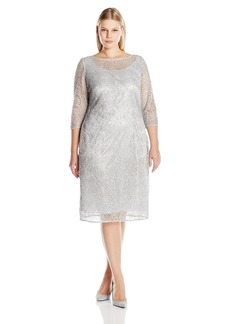Alex Evenings Women's Plus Size Short Lace Cocktail Dress  W