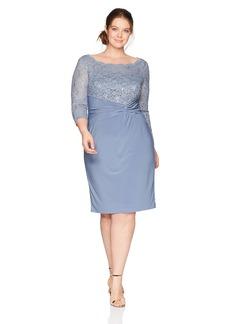 Alex Evenings Women's Plus Size Short Shift Dress