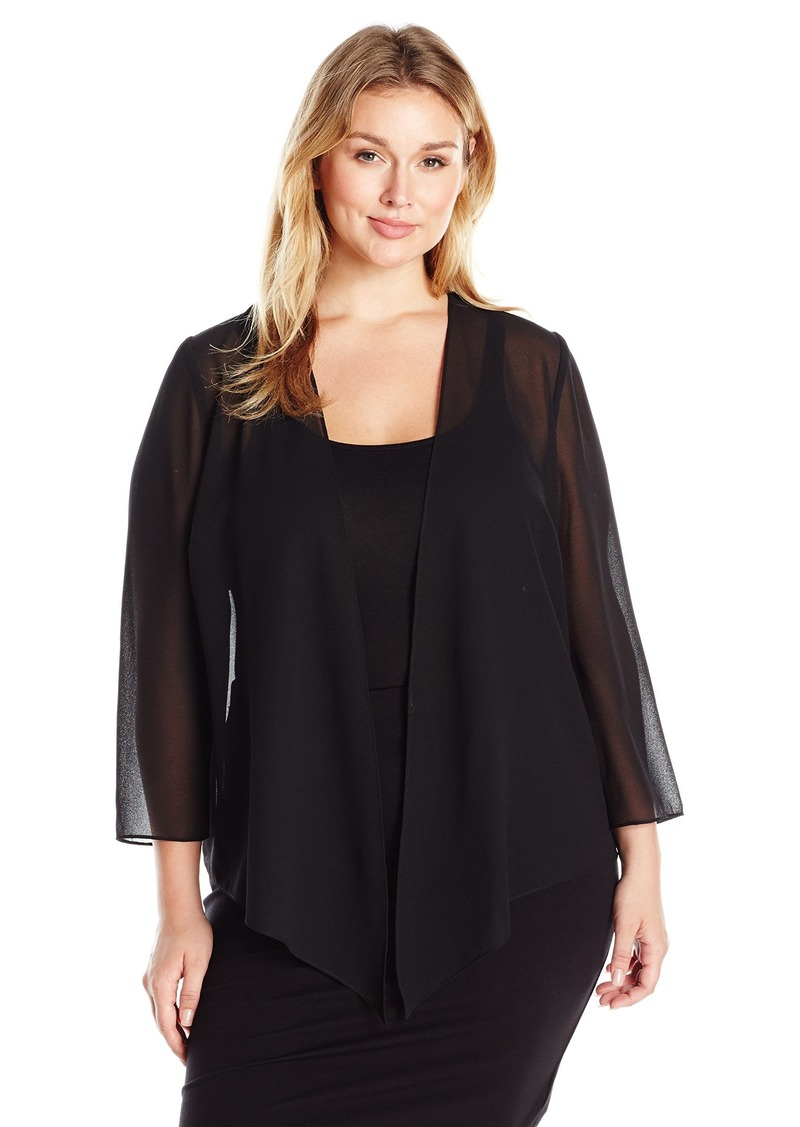 Alex Evenings Women's Plus-Size Wraps Shawls Cover Ups and Evening Jackets