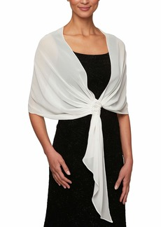 Alex Evenings Women's Plus Size Wraps Shawls Cover Ups and Evening Jackets  One