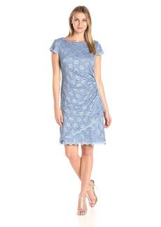 Alex Evenings Women's Short Cap Sleeve Dress with Asymmetric Tiered Hem