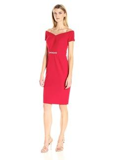 Alex Evenings Women's Short Off the Shoulder Dress with Embellished Waist Detail