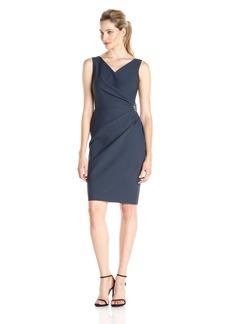 Alex Evenings Women's Short Side Ruched Dress with Cascade Ruffle Skirt