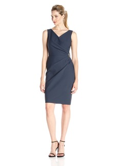 Alex Evenings Women's Short Side Ruched Dress With Cascade Ruffle Skirt