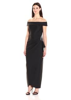 Alex Evenings Women's Slimming Off The Shoulder Compression Dress Black