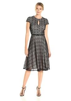 Alex Evenings Women's T-Length All Over Lace a Line Dress