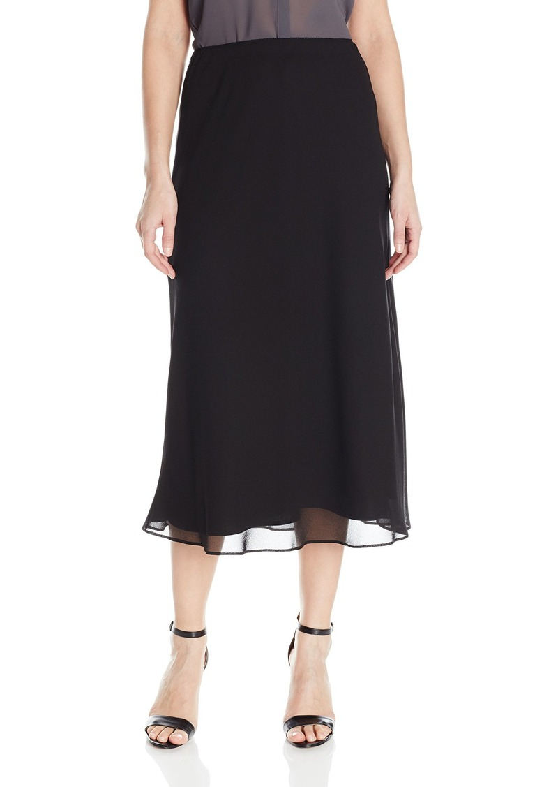 Alex Evenings Women's Tea Length Georgette a-Line Skirt  L