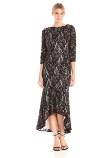 Alex Evenings Women's T-Length Lace Dress with High Low Skirt  18