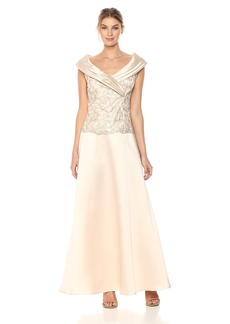Alex Evenings Women's Two-Piece Dress Portrait Collar Blouse (Petite Regular Sizes)