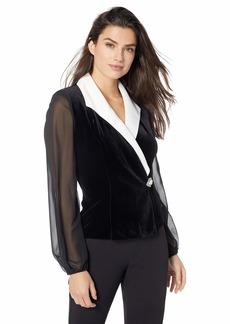 Alex Evenings Women's Velvet Blouse Top (Multiple Styles Petite and Regular Sizes)  L