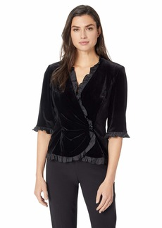 Alex Evenings Women's Velvet Blouse Top (Multiple Styles Petite and Regular Sizes)  S
