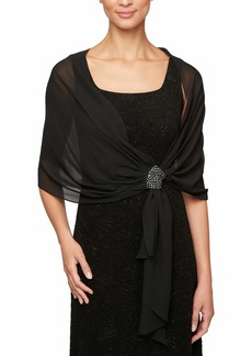 Alex Evenings Women's Wraps Shawls Cover Ups and Evening Jackets