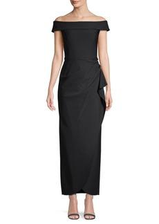 Alex Evenings Compression Off-The-Shoulder Dress