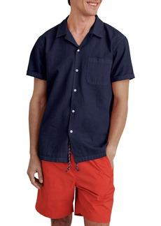 Alex Mill Short Sleeve Seersucker Button-Up Camp Shirt