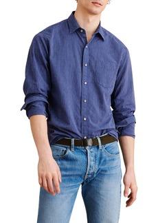 Alex Mill Standard Stripe Cotton & Linen Button-Up Shirt