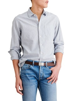 Alex Mill Stripe Cotton & Linen Button-Up Shirt