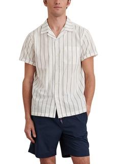 Alex Mill Stripe Short Sleeve Button-Up Camp Shirt