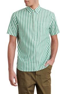 Alex Mill Stripe Short Sleeve Popover Button-Down Shirt