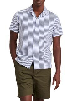 Alex Mill Stripe Short Sleeve Seersucker Button-Up Camp Shirt