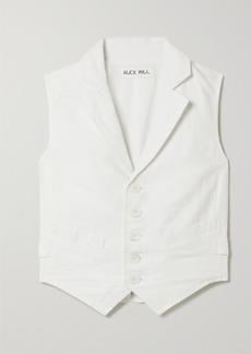 Alex Mill Mathilde Linen And Cotton-blend Vest