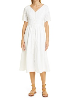 Women's Alex Mill Rick Button Front Cotton Midi Dress