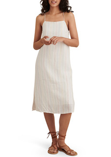 Women's Alex Mill Rose Multi Stripe Linen Midi Slipdress