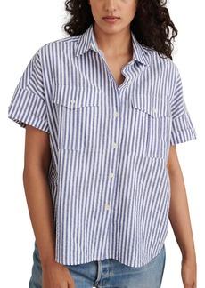 Women's Alex Mill Seersucker Short Sleeve Cotton Safari Shirt