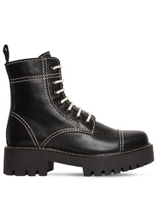 Alexa Chung 30mm Military Leather Boots