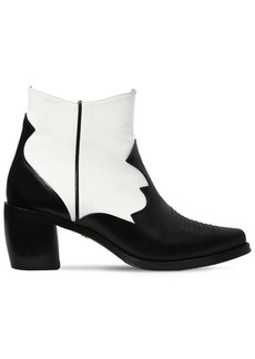 Alexa Chung 70mm Leather Ankle Cowboy Boots