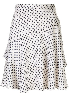 Alexa Chung Aerial Dot flared skirt