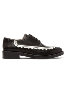 Alexa Chung Alexachung AC-30 scallop-edge leather derby shoes