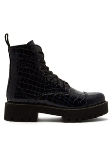 Alexa Chung Alexachung Crocodile-effect leather boots