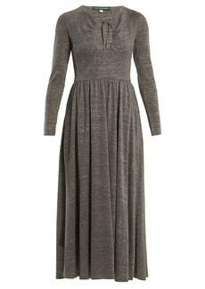 Alexa Chung Alexachung Cut-out front gathered-waist dress