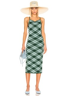 Alexa Chung ALEXACHUNG Plaid Midi Dress