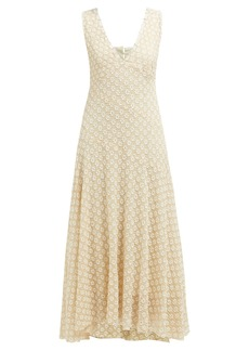 Alexa Chung Alexachung Floral-lace V-neck midi dress