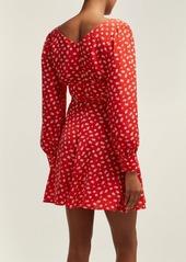 Alexa Chung Alexachung Floral-print crepe wrap dress