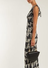 Alexa Chung Alexachung Floral tile-print crepe dress