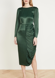 Alexa Chung ALEXACHUNG Gathered Dress Crepe Satin