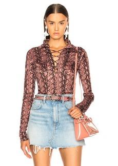 Alexa Chung ALEXACHUNG Lace Up Shirt