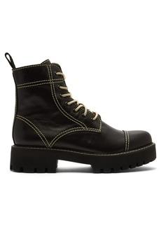 Alexa Chung Alexachung Military leather boots